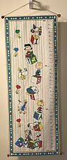 Snoppy And Charlie Brown Peanuts Handcrafted Vintage Growth Height Chart