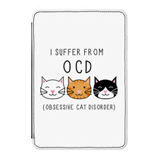"""Obsessive Cat Disorder OCD Case Cover for Kindle 6"""" E-reader - Crazy cat Lady"""