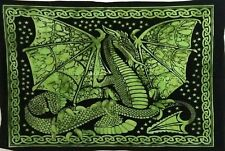 Color Green Dragon Small Tapestry Poster Home Decor wall Hanging Hippie solid