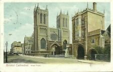 BRISTOL CATHEDRAL WEST FRONT 1904 PEACOCK #451 POSTCARD