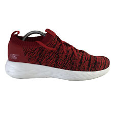 Skechers Shoes Men's Size 9 Red Mesh Lace Up Factory Sample Nwob Walking Comfort