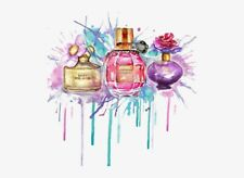 Colourful A4 Watercolour Print of Designer Perfume Marc Jacobs on 240GM Gloss