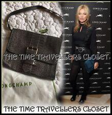 Kate Moss for Longchamp Lambskin Embossed Grey Croco Gloucester Clutch RRP £379
