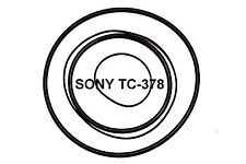 COURROIES SET SONY TC378 MAGNETOPHONE A BANDE EXTRA FORT NEUF DE FABRIQUE TC 378