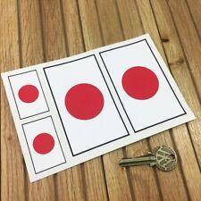 Japón Bandera Nacional 4 in (approx. 10.16 cm) & 2 in (approx. 5.08 cm) Coche Pegatinas Toyota Honda