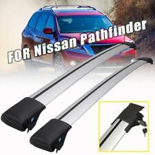 For 2013-2019 Nissan Pathfinder Roof Rail Rack Cross Bars Kayak Carrier Silver