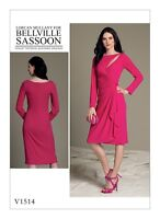V1514 Vogue Sewing Pattern Misses' Designer Bellville Sassoon Fitted Dress