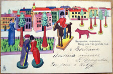 1903 Raphael Tuck Postcard: Toys/Dolls/Toy Soldiers - Color Litho