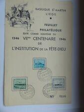 TIMBRE BELGIQUE ANNEE 1946