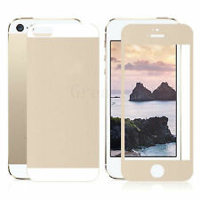 Colored Tempered Glass Screen Protector Film Guard For Apple iphone 5 5S SE 5G