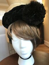 Vintage Antique Victorian Hat With Feathers And Hat Pin Fascinator