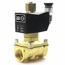 3/4'' NPT 110V AC Brass 2 Way N/O Electric Solenoid Valve for Water Air Gas Fuel