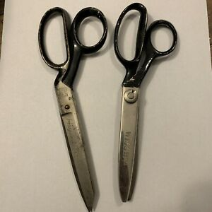 Vintage Lot Of 2 Wiss Scissors CB7LH & #28 In Laid Equity Made In USA