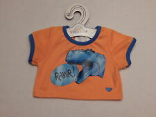 New Listing New Build A Bear Clothes T-Rex Tee Shirt Nwt