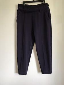 Lululemon Stretch Elastane Lycra Nylon Purple Ankle Slim Pocket Pants Size 10