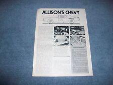 Bobby Allison's 1972 Chevy Monte Carlo Coca-Cola Race Car Info Article