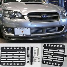 Front Tow Hook License Plate Mount Bracket Holder For 05-09 Subaru Legacy BL BP