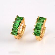 Wedding Charms Earrings 18k Yellow Gold Filled 14mm Women Hoops Vogue Jewelry