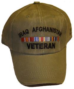 IRAQ AFGHANISTAN VETERAN EMBROIDERED HAT RIBBON OIF OEF IRAQI ENDURING FREEDOM