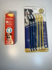 Petrodex 484023 Enzymatic Dog Toothpaste 6.2 Oz And Dual Headed Brushes.