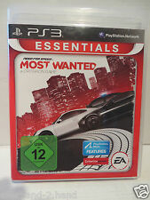 PlayStation3 PS 3 # Spiel Need for Speed MOST WANTED USK 12 Blu-ray Disc SPIELEN