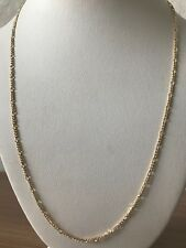 Figaro Link 1mm 20 inch Chain 18k Gold Plated - Curb Link Chain Width 1mm