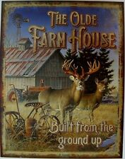 Farm House Picture Metal Sign Rustic Tractor Deer Barn Cabin Wall Decor Gift