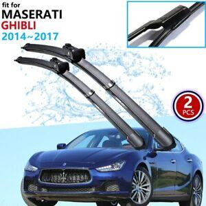 🥇High Quality Front Windshield Wiper Blades🥇Fit: Maserati Ghibli 2014~2017