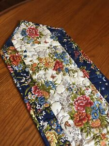 Handcrafted-Quilted Table Runner- Spring is Here - Flowers in Multiple Colors +