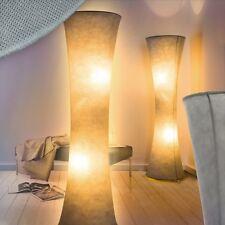 Stehlampe Lese Diele Leuchten Stand Boden Lampen Schlaf Wohn Zimmer Stoff grau