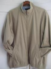 Van Heusen Men's XL Khaki Jacket Windbreaker Lined Zip Front Pockets Lightweight