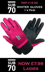 Brand New Sub70 Ladies Womens Fleece Backed Winter Golf Gloves All sizes 1x Pair