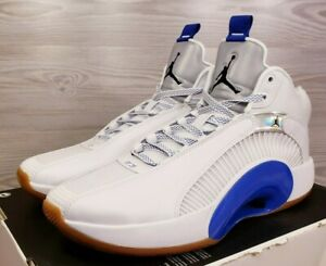 Nike Air Jordan XXXV SH White Blue Metallic Silver Iridescent CZ5657 100 Size 13