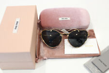"""New Never Used""  MIU MIU SMU 55R 7OE-1A1 Antique Gold Cat Eye Sunglasses"