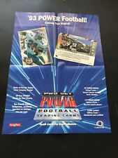 1993 Pro Set Power Football Trading Cards Window Display Poster Emmitt Smith.