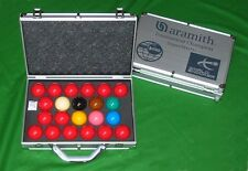 NEW ARAMITH SUPERPRO 1G WORLD CHAMPIONSHIP SNOOKER TABLE BALLS IN ALUMINIUM CASE