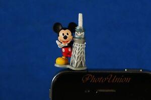 DISNEY MICKEY MOUSE IPHONE PHONE ORNAMENT DECORATION CHARM Dustproof Plug A591