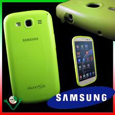 PELLICOLA+Custodia originale Samsung pr Galaxy S3 i9300 S3 NEO i9301 verde tappi