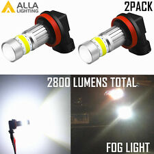 AllaLighting H8 72-LED 6000K White Fog Light Bulb|DRL|Cornering Lamp Replacement