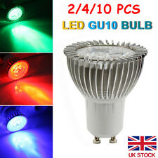 2/4/10Pcs GU10 LED Spot Light Bulb Lamp Red Blue Green Energy Saving bulbs UK