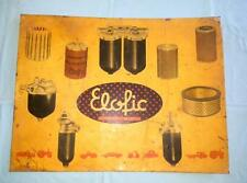 Vintage Old Collectible Rare Elofic Efficient Adv. Litho Tin Sign Board Indian
