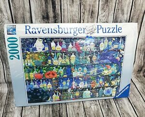 Ravensburger 2000 Piece Jigsaw Puzzle - Poisons and Potions #160105 Box Damaged