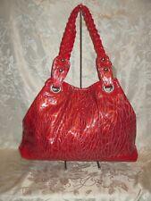 Red Snake Skin Shoulder Bag