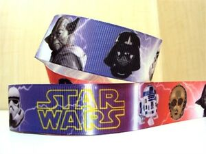 """Star Wars Ribbon 1"""" (25mm) Wide 1m is only £1.49 UK SELLER FREE P&P"""