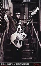 "FENDER POSTER~Johnny Marr Morrissey Fender Jaguar B/W 24x37"" Classic Rock N Roll"