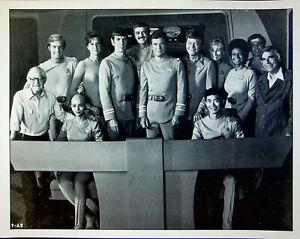 """Star Trek Original Series Movie Cast Photograph w/ Roddenbury & Wise 14""""x11"""""""