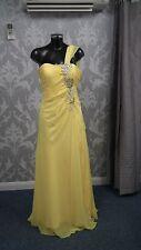Tiffanys Bright Yellow Jewelled Evening/Prom Dress size 10