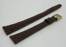 New Omega 12mm Brown Alligator Strap OEM Genuine Vintage Tang Buckle