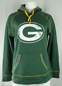 Green Bay Packers NFL Majestic Women's Distressed Pullover Hooded Sweatshirt