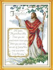 Jesus Christian Footprints Counted Cross Stitch Kit 14ct aida21x30cm D Free P&P